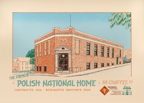 the Polish National Home in Olneyville