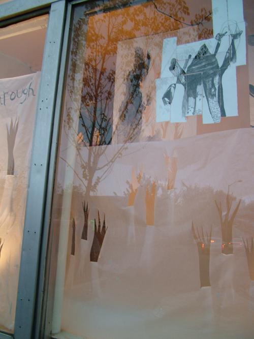 detail of window installation by lauren o