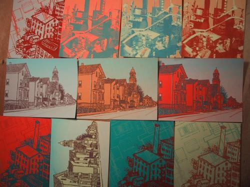 cityscape postcards
