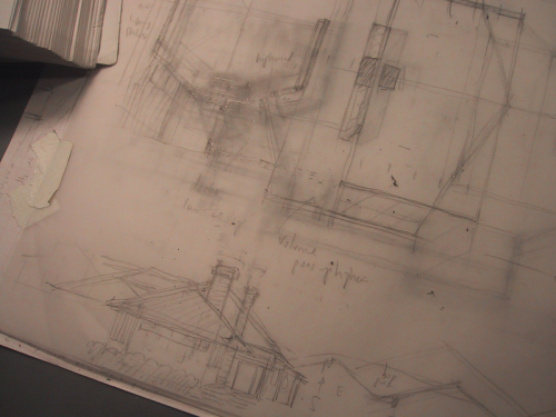 advancing the drawing