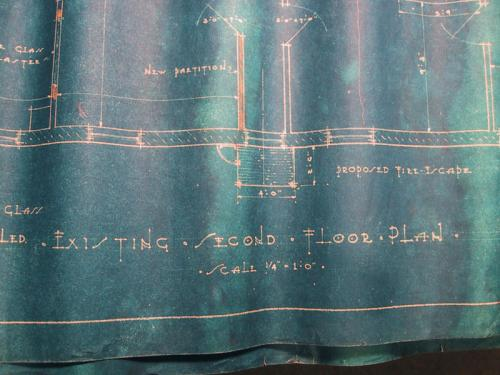 beautiful blueprint lettering…