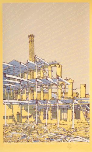 yellow/gold Durruti final print