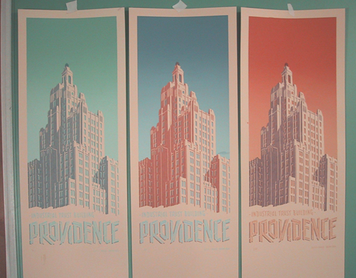 industrial trust building prints on ivory paper