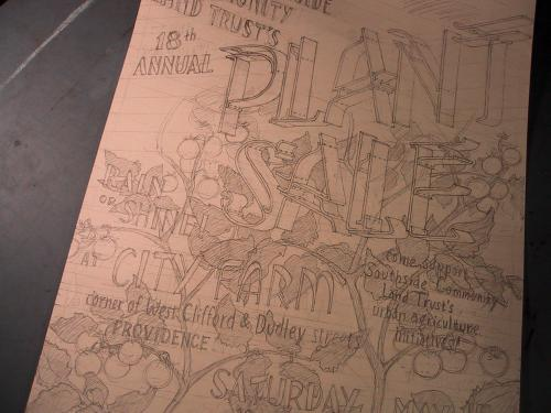 drawing for plant sale poster 2010!