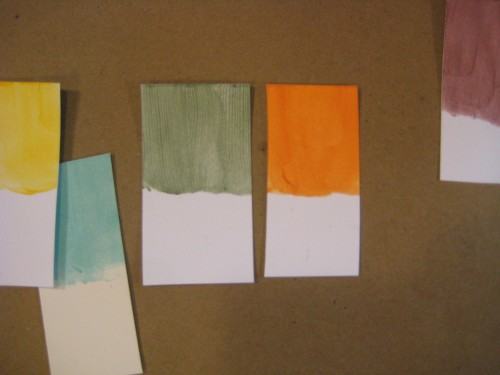 a selection of color swatches