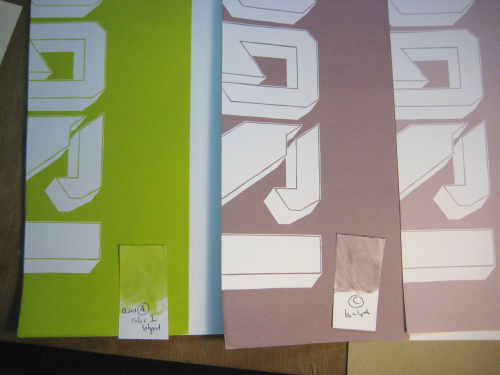 test swatches & printed test colors