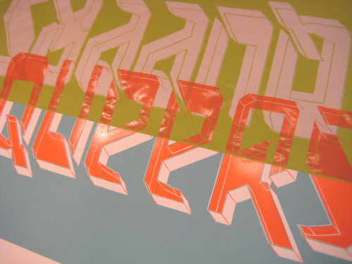test printings of geometric letterforms