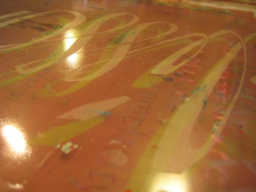 gloss varnish, printed on plastic, showing its anti-refractive tendencies
