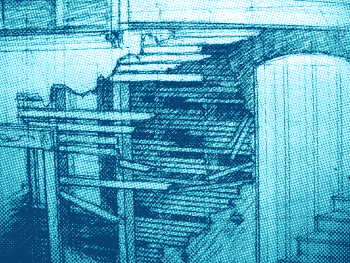 halftone image of a section of pencil drawing